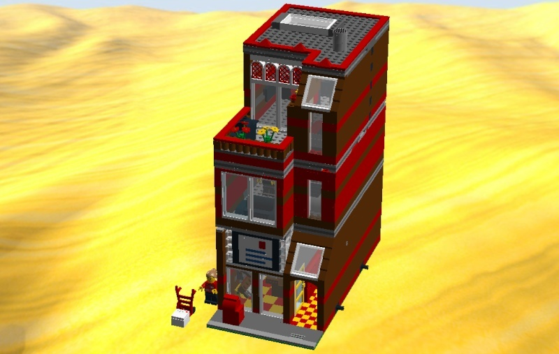 LDD MOC Modular Post Office Postof24