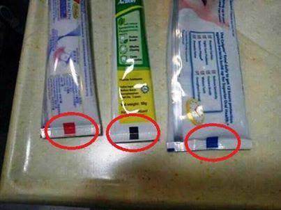Connaissez-vous le code couleur du dentifrice ? Dentif10