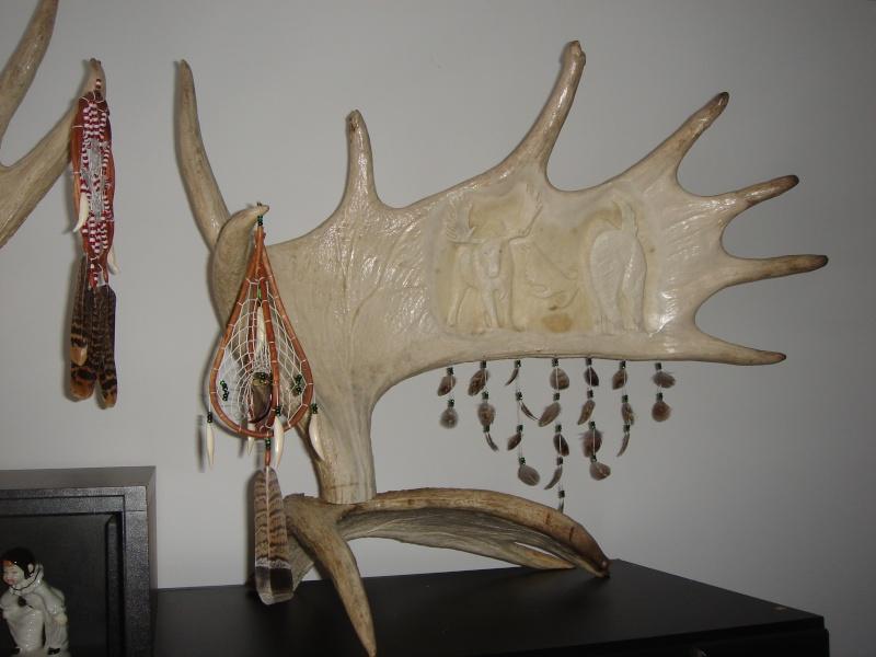 Sculptures sur Panache d'orignaux Combat11