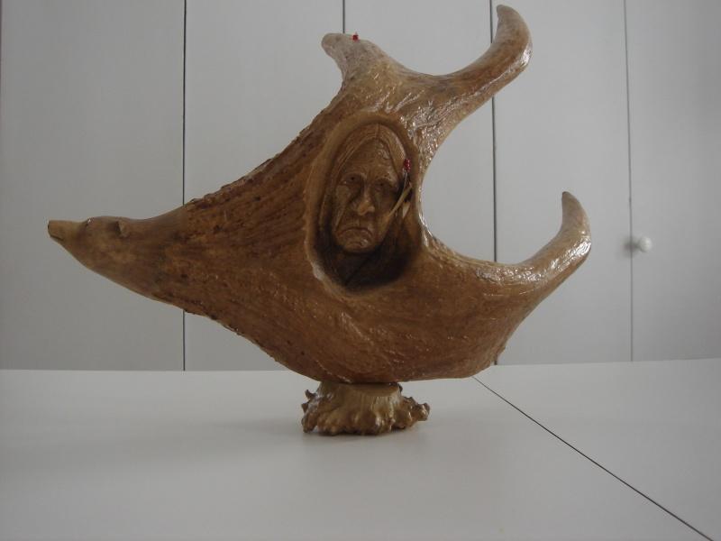 Sculptures sur Panache d'orignaux Oursin10