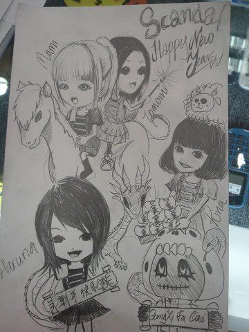 >< scandal drawing  53793612