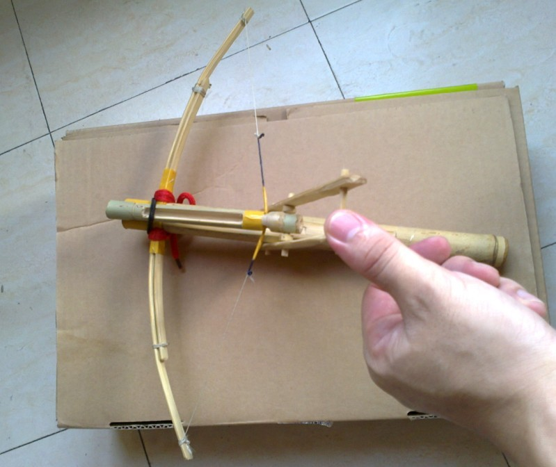 My personal bamboo crossbow in all:  Cho-Ko-Nu, Primitive crossbow, New crossbow trigger 1510