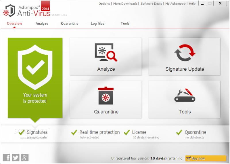 حصريا برنامج الحماية الجبار Ashampoo Antivirus 2014 مرفوع على اكثر من سيرفير للتحميل 110