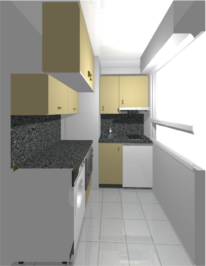 Déco pour la cuisine d'un studio Plan_c10