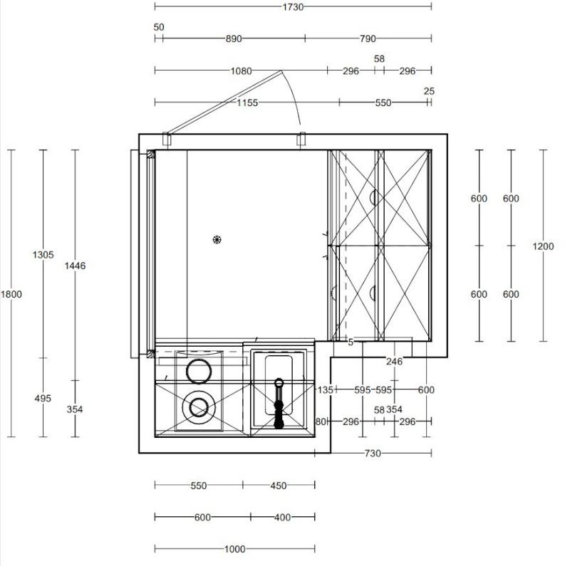 Déco pour la cuisine d'un studio Plan_c13