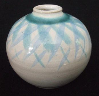 "Blue ""Keri Keri"" Bottle is Betty Coates and Len Coates [Peacock Pottery] Peacoc10"