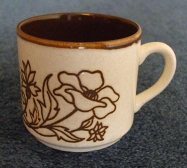 No name floral bowl & cup - the bowl is Debonair Deco 637 Pretty10