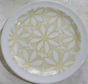 plate - kelston Ceramics Hazel and Petula d255, Panama d436 and other coloured clematis Yellow10