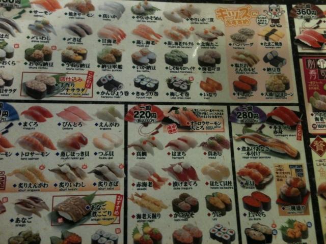 Les coins sympas pour manger - いい場所は食べて Carte10