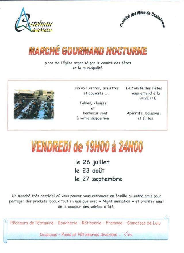Marché nocturne Gourmand le 23 Aout 2013 à Castelnau de Médoc 10981810