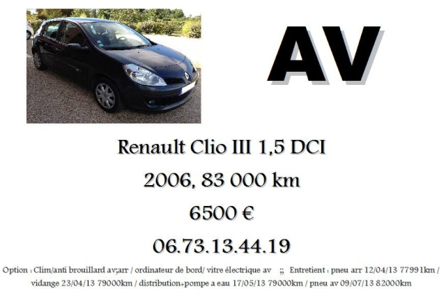A VENDRE CLIO III 1L5 DCI 11488310