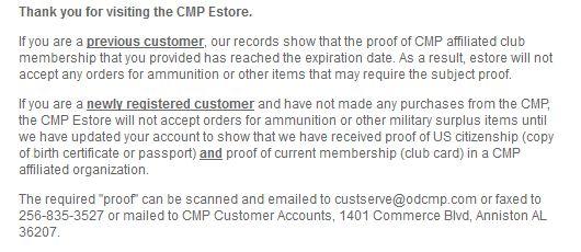 CMP Club Affiliation Expired? 52416310