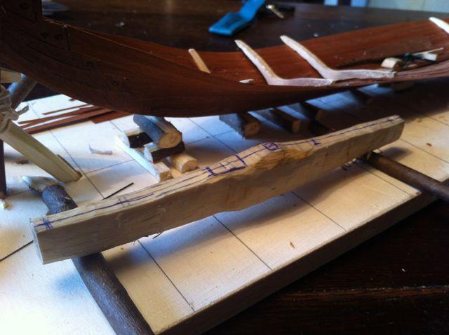 Wikingerschiff Skuldelev 3 / Teil I Kielsc11