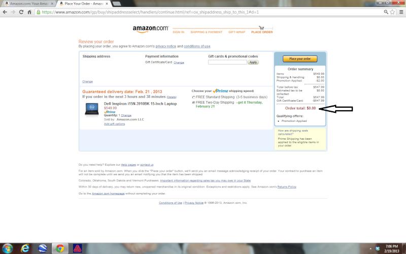 Get quick gift cards to Amazon, eBay, Walmart etc with Instagc Laptop10