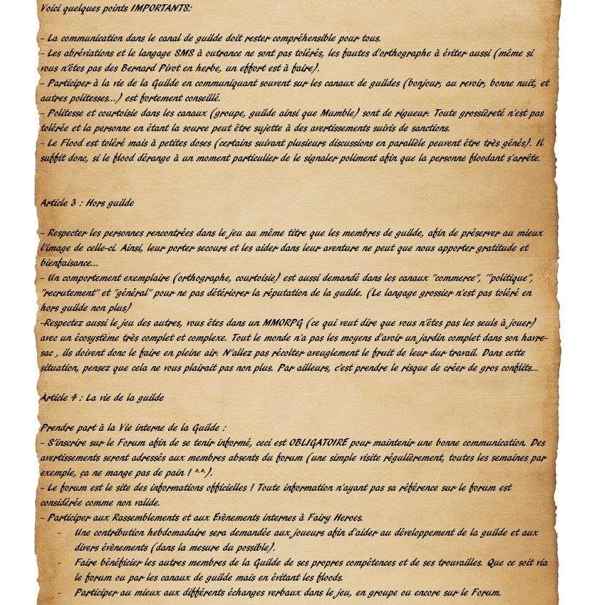 Charte des Fairy Heroes Parche22