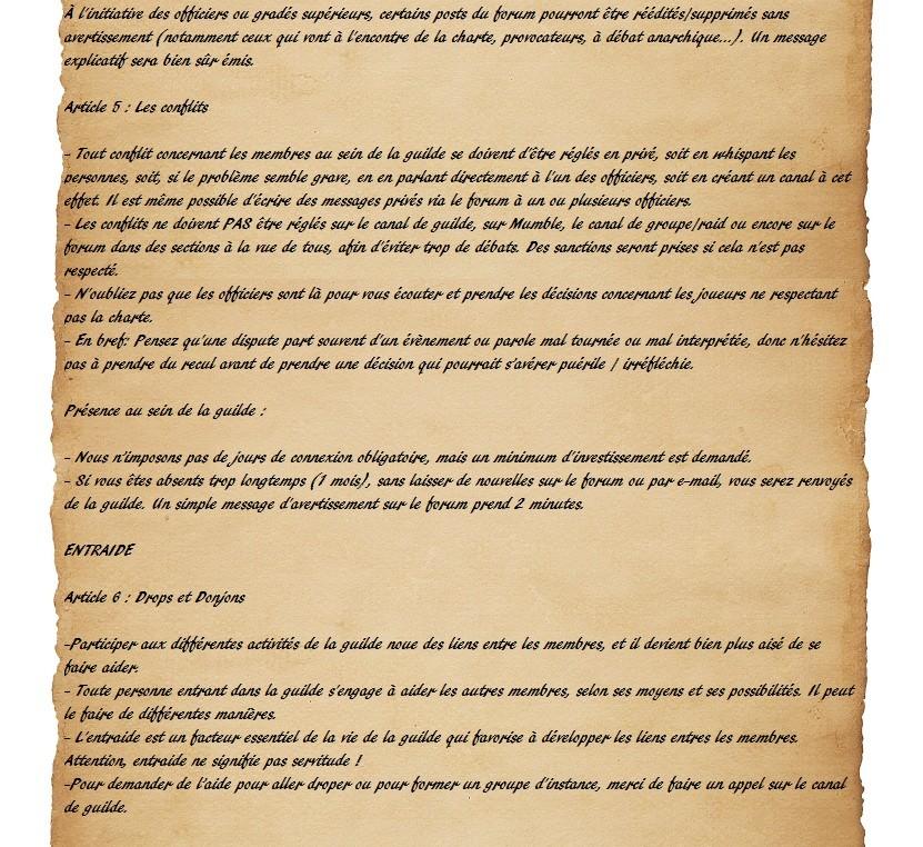 Charte des Fairy Heroes Parche24
