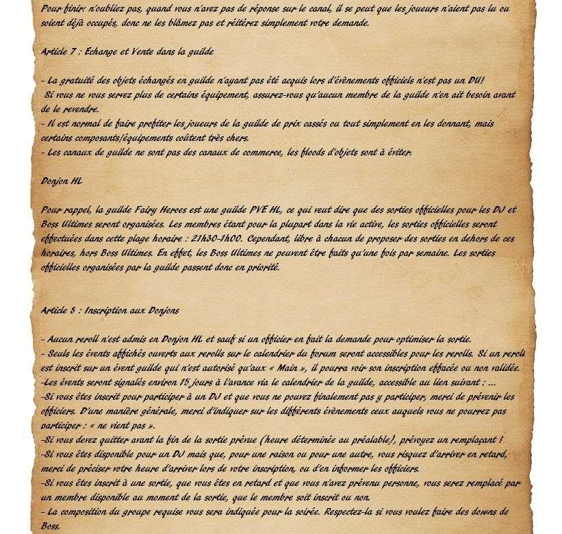 Charte des Fairy Heroes Parche28