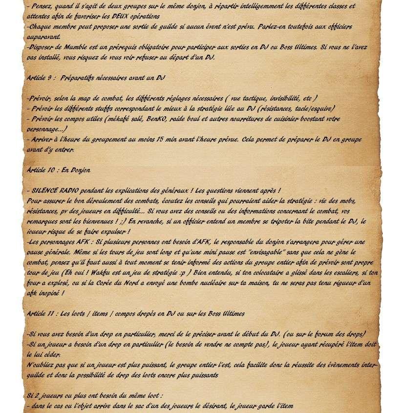 Charte des Fairy Heroes Parche30