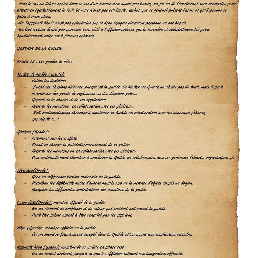 Charte des Fairy Heroes Parche31