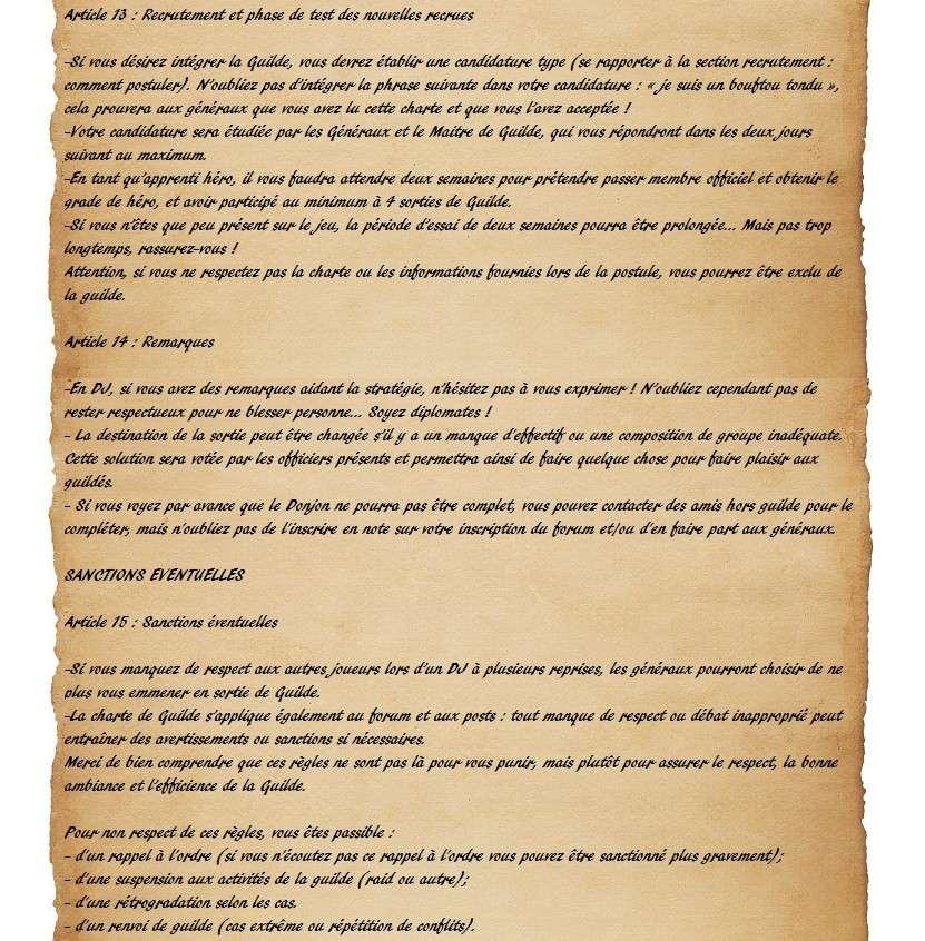 Charte des Fairy Heroes Parche32