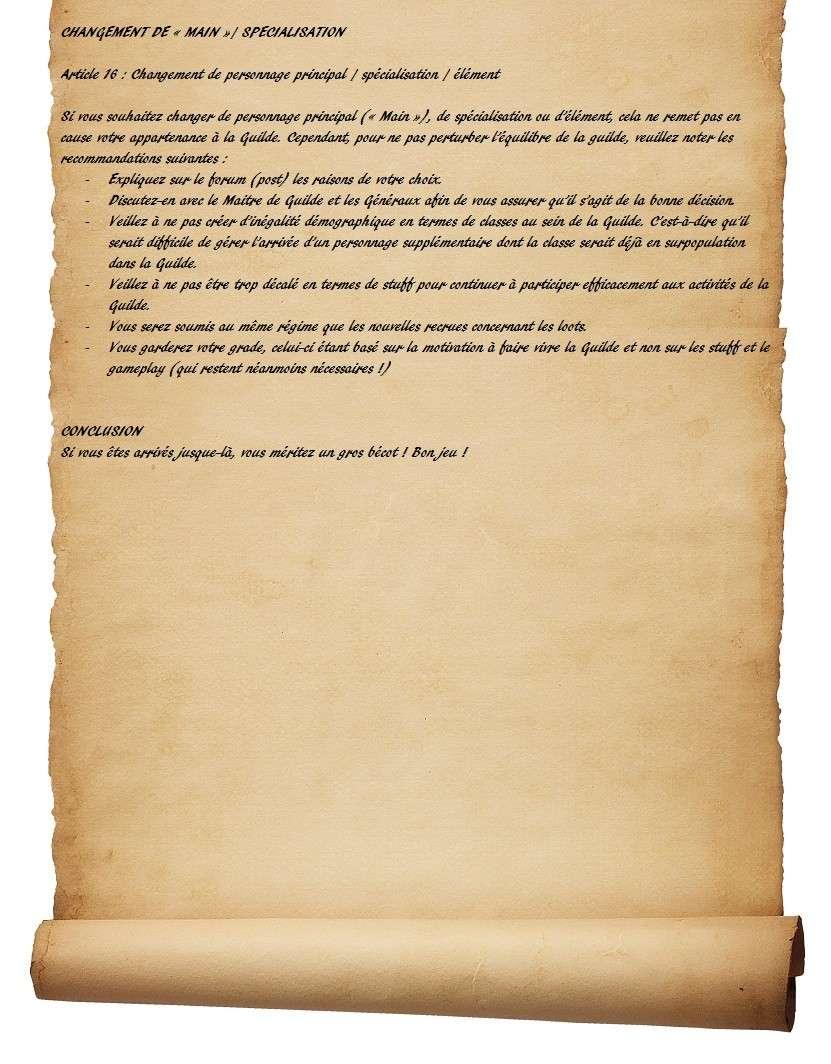 Charte des Fairy Heroes Parche33