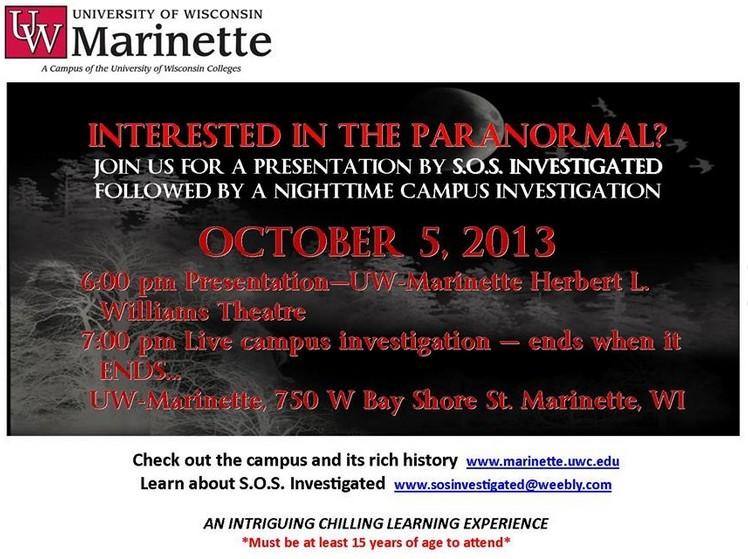 Paranormal Investigation Presentation Uwmars10