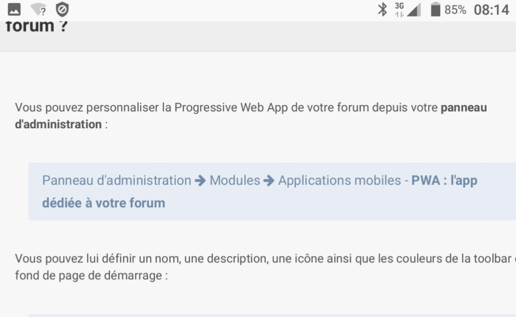 Forum sur Smartphone Screen12