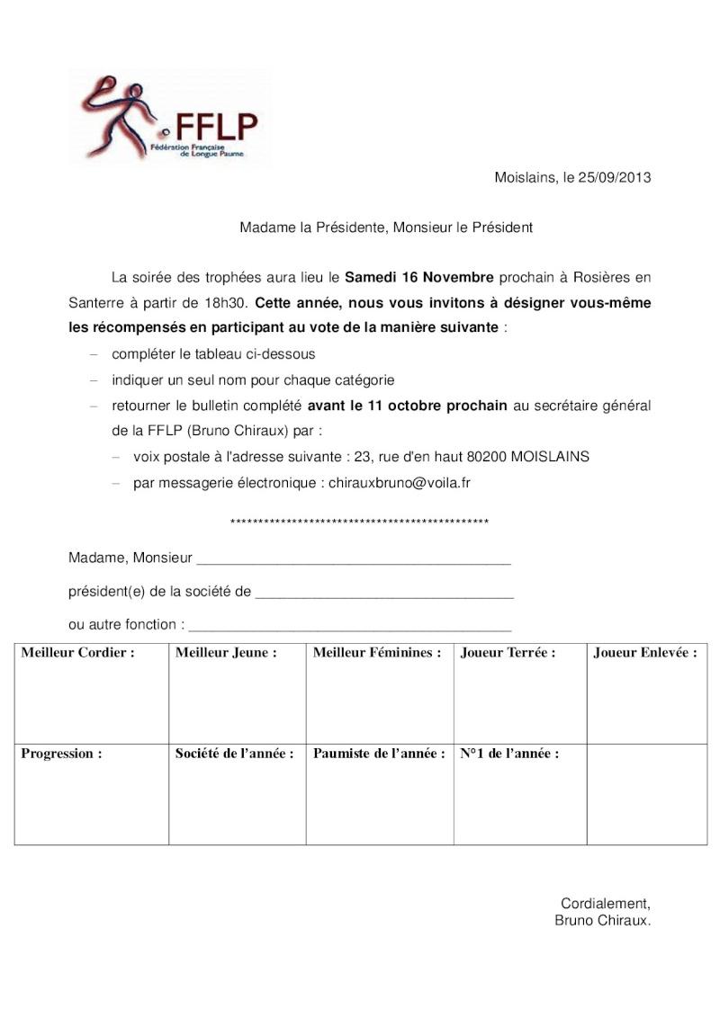 [ Mail du 30 Sept 13] Désignation des lauréats de la soirée des trophées 2013 Courri10