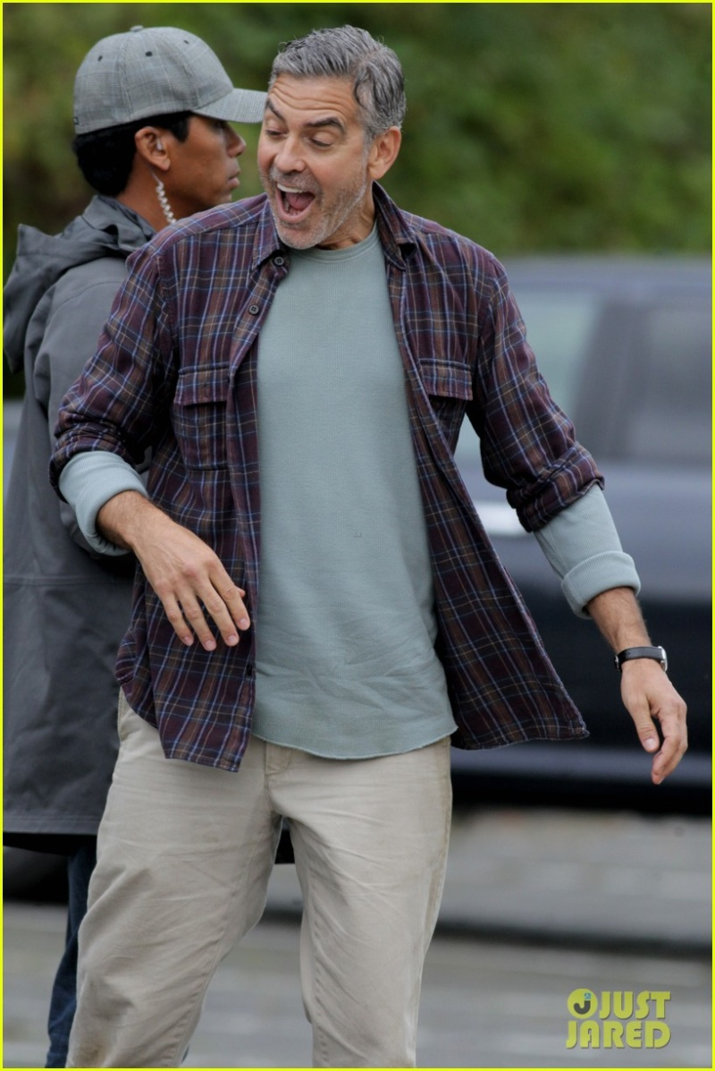 George Clooney on set of Tomorrowland C110