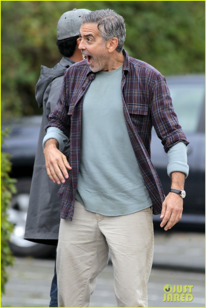 George Clooney on set of Tomorrowland C310