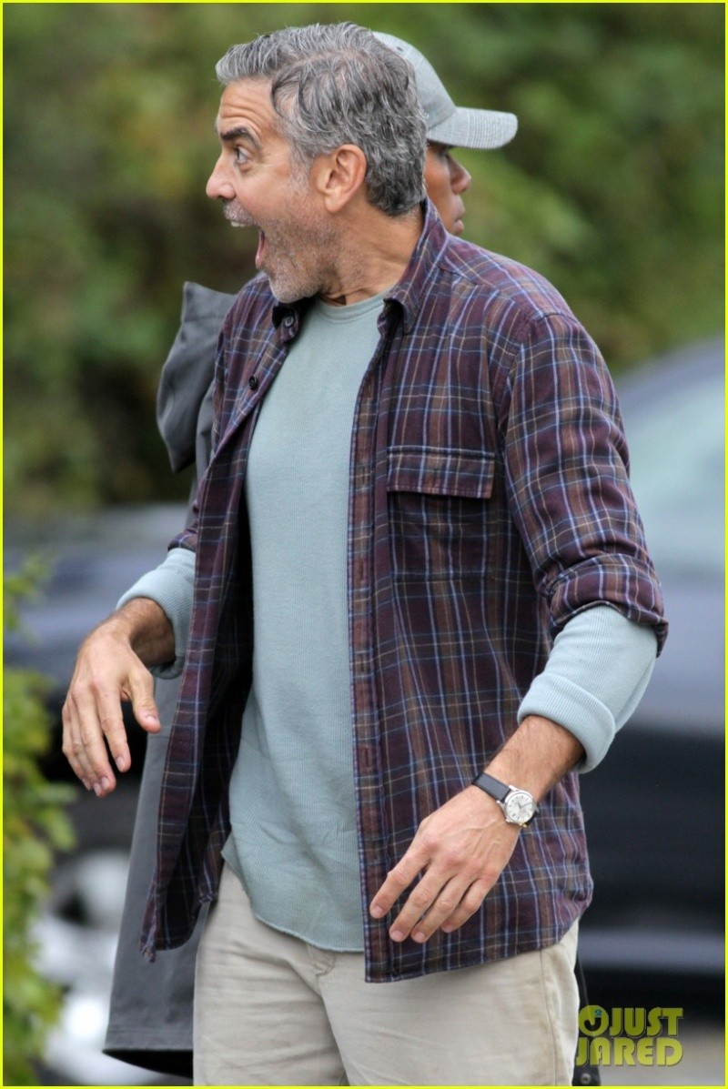 George Clooney on set of Tomorrowland C410