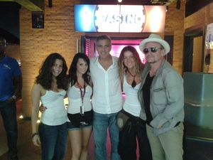 George Clooney at La Rascasse in Monaco with Bono, Monday 19th August 2013 G110