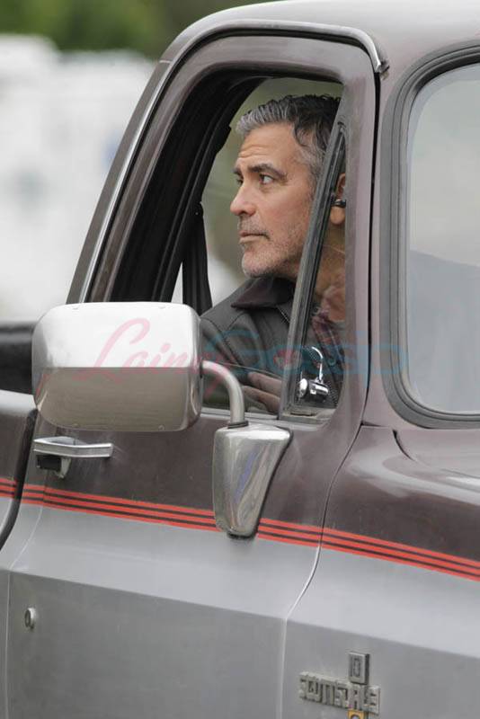 George Clooney on set of Tomorrowland Gg411