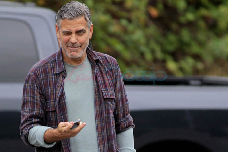 George Clooney on set of Tomorrowland Gg510
