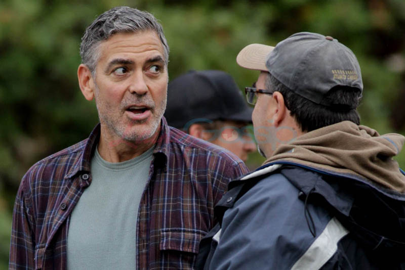 George Clooney on set of Tomorrowland Gg610