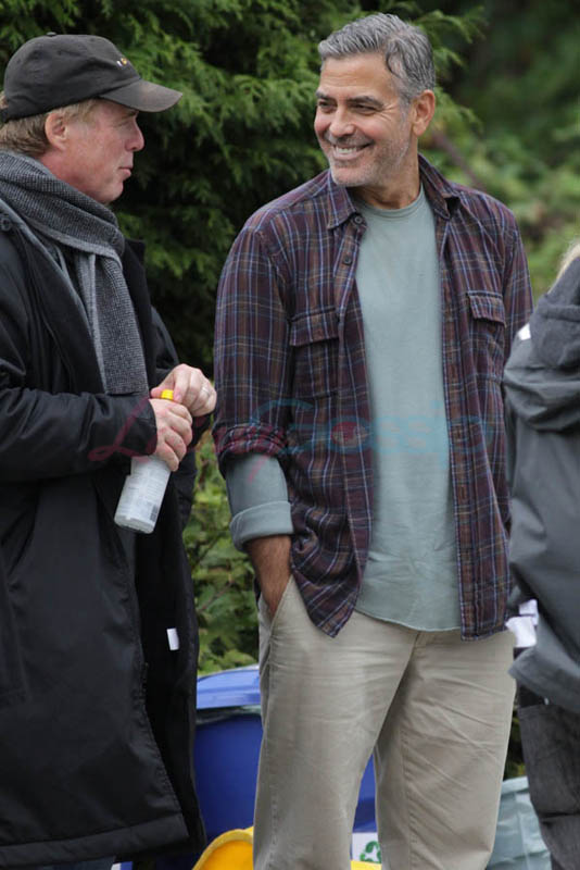 George Clooney on set of Tomorrowland Gg710
