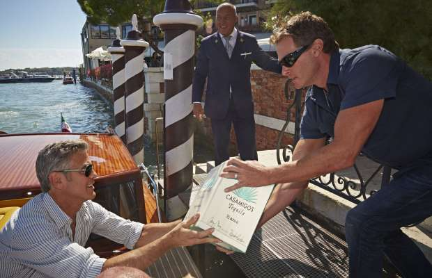 George Clooney and Rande Gerber deliver Casamigos tequila to Venice Teq10