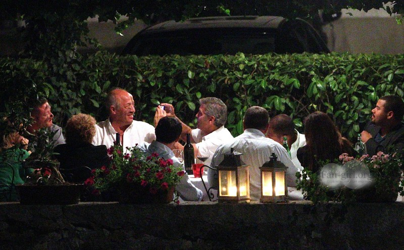 George Clooney at Dinner 8/18/13 in Lake Como Test1010