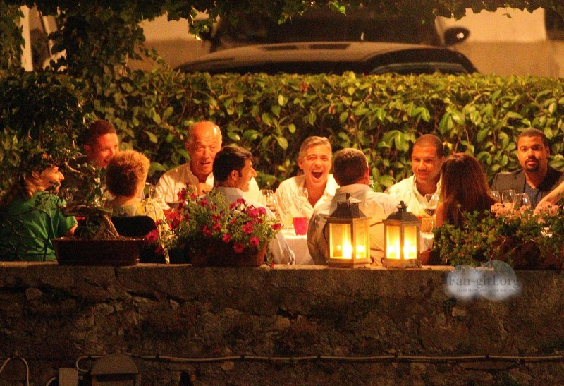 George Clooney at Dinner 8/18/13 in Lake Como Test310