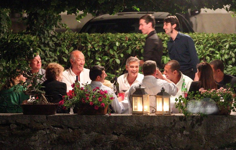 George Clooney at Dinner 8/18/13 in Lake Como Test410