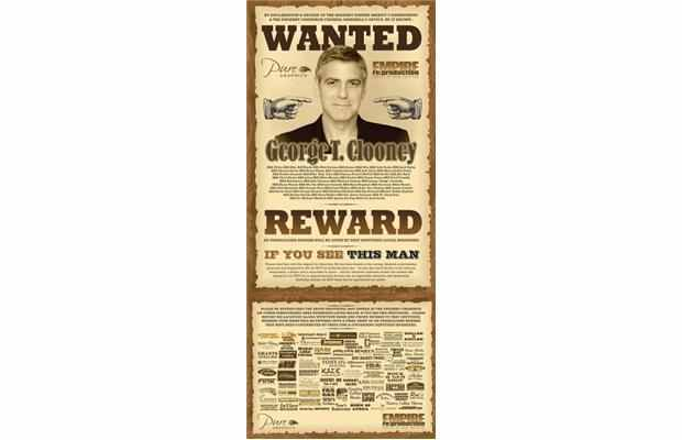 George Clooney Wanted in Canada: Cardboard or Alive Wanted10