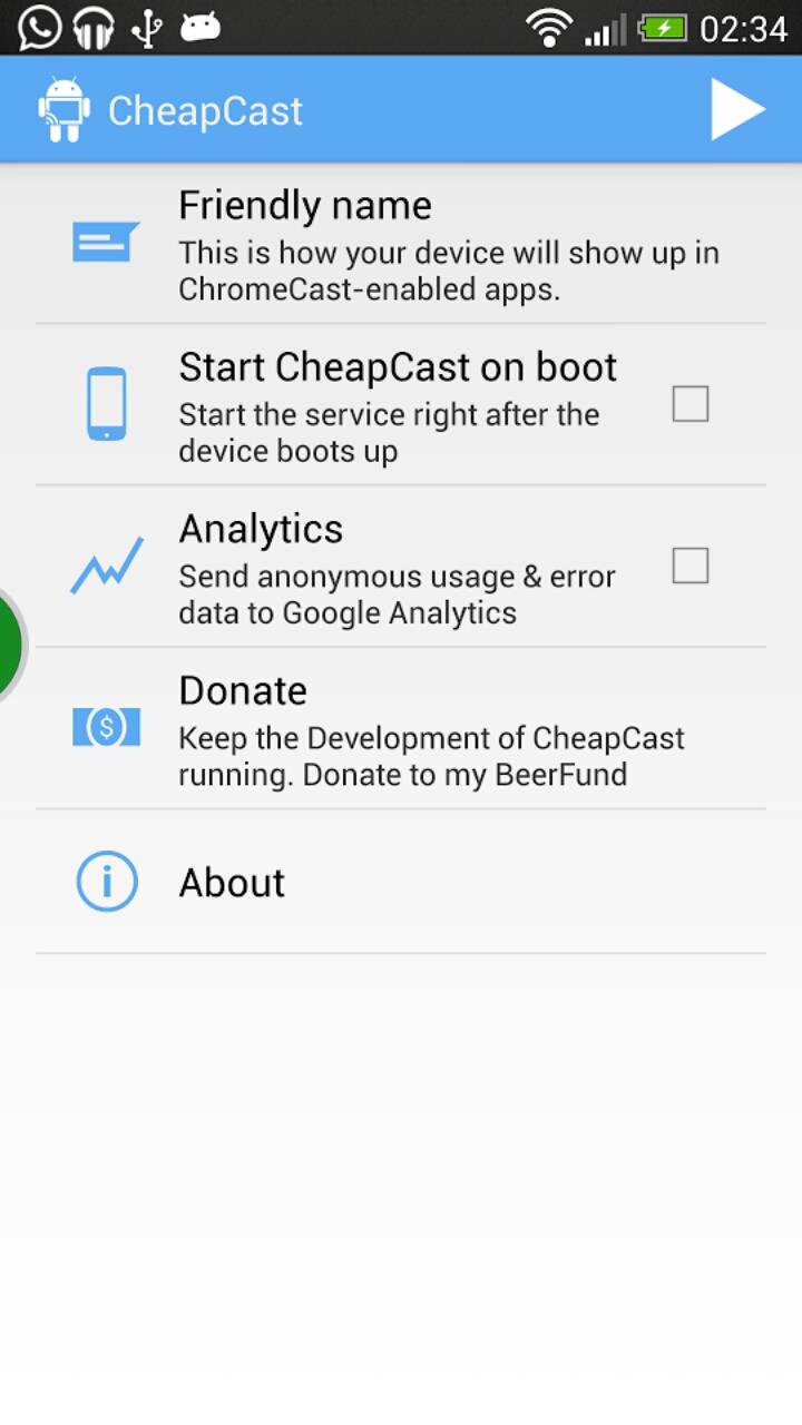 [SOFT] CHEAPCAST : Transformer son appareil Android en dongle ChromeCast [Gratuit][14.08.2013] 2013_014