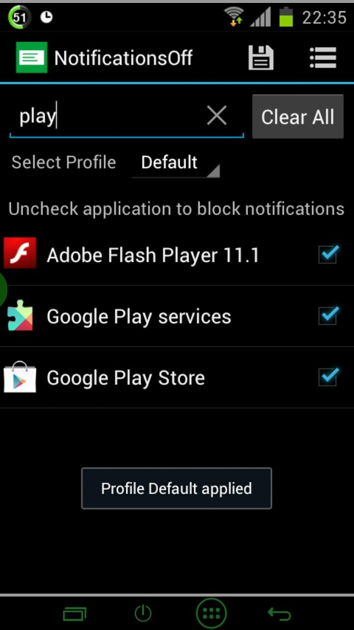 [SOFT][4.1+] NOTIFICATIONS OFF : Désactiver les icônes des applications présents dans la barre de notification [Gratuit][05.09.2013] 2013_031