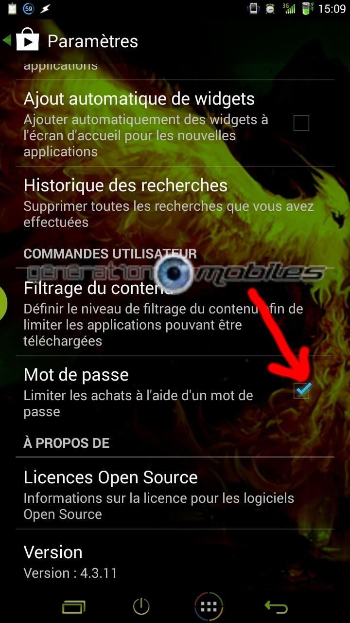 [ASTUCE][DEBUTANT] Google Play : Protégez-vous contre les achats indésirables grâce à un mot de passe de sécurité [23.09.2013] 2013_056