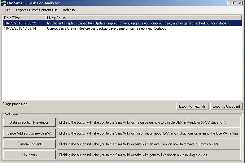 [MP - 11/11] Sims 3 a cessé de fonctionner ... - Page 2 Crashl10