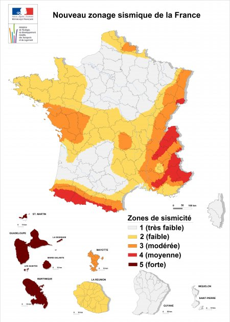 SEISME IN FRANCE TODAY  Zonage11