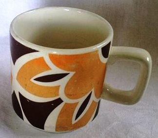 Orange and Brown Mug Orange10