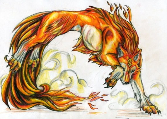 When the fire burns in you and you do not control the ice just help you Loup-m10