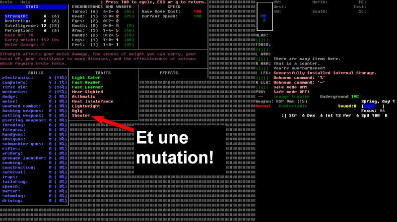 Challenge Francophone de Roguelike sur Cataclysm DDA - Septembre 2013 - CFRL1309CDDA071-KEVIN Jour_110
