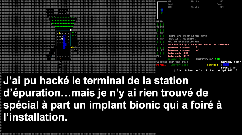 Challenge Francophone de Roguelike sur Cataclysm DDA - Septembre 2013 - CFRL1309CDDA071-KEVIN Jour_114